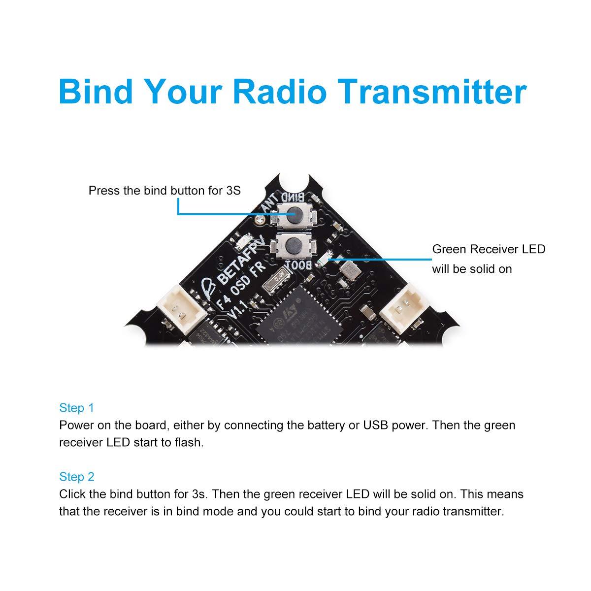BETAFPV Beta65S DSMX BNF Micro Whoop Quadcopter mit Empf/änger und OSD