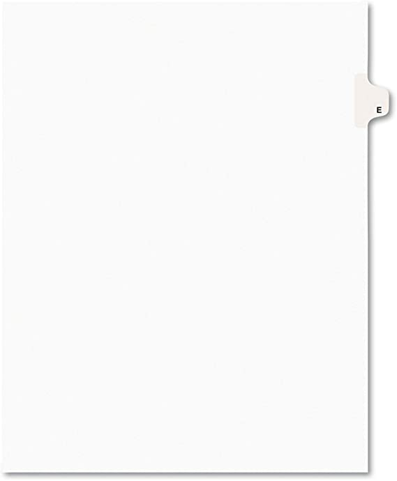 AVE01405 Avery Individually Lettered Tabs Legal Dividers