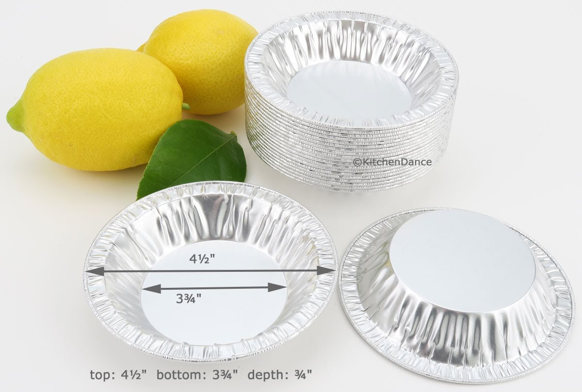 4½'' Disposable Aluminum Tart or Pie Pan #450 (500)