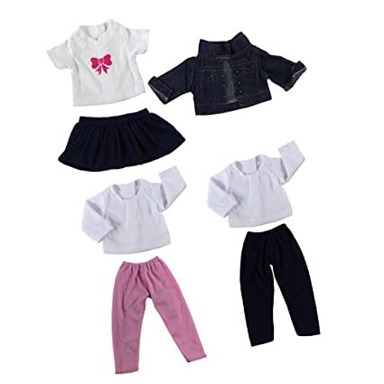 21af1a2cc7e73 Buy 3 Suits Fancy Jeans Shirt Pants Dress Suit Clothes for 18   American  Girl Our Generation Doll Princess Outfit Online at Low Prices in India -  Amazon.in