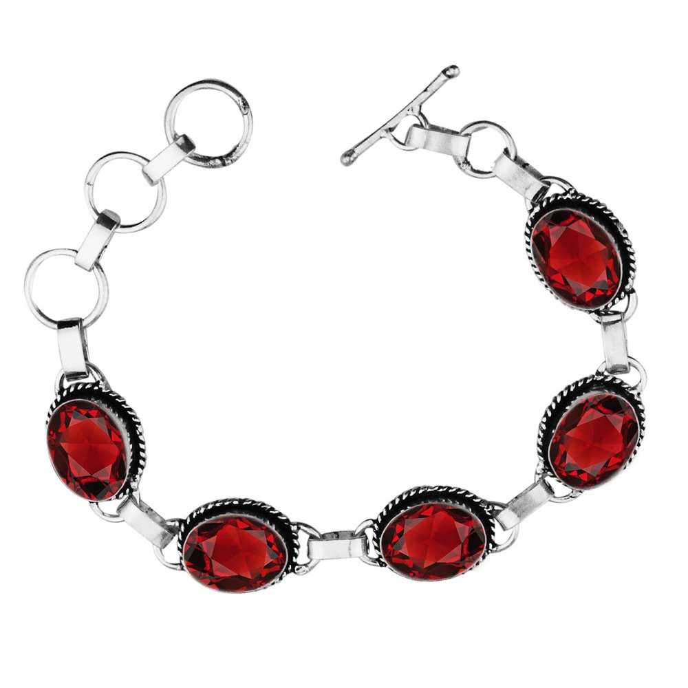 11.50Gms,7.80 Ctw Genuine Gemstone 925 Sterling Silver Overlay Handmade Fashion Bracelet Jewelry Sterling Silver Jewelry SJH-b033c