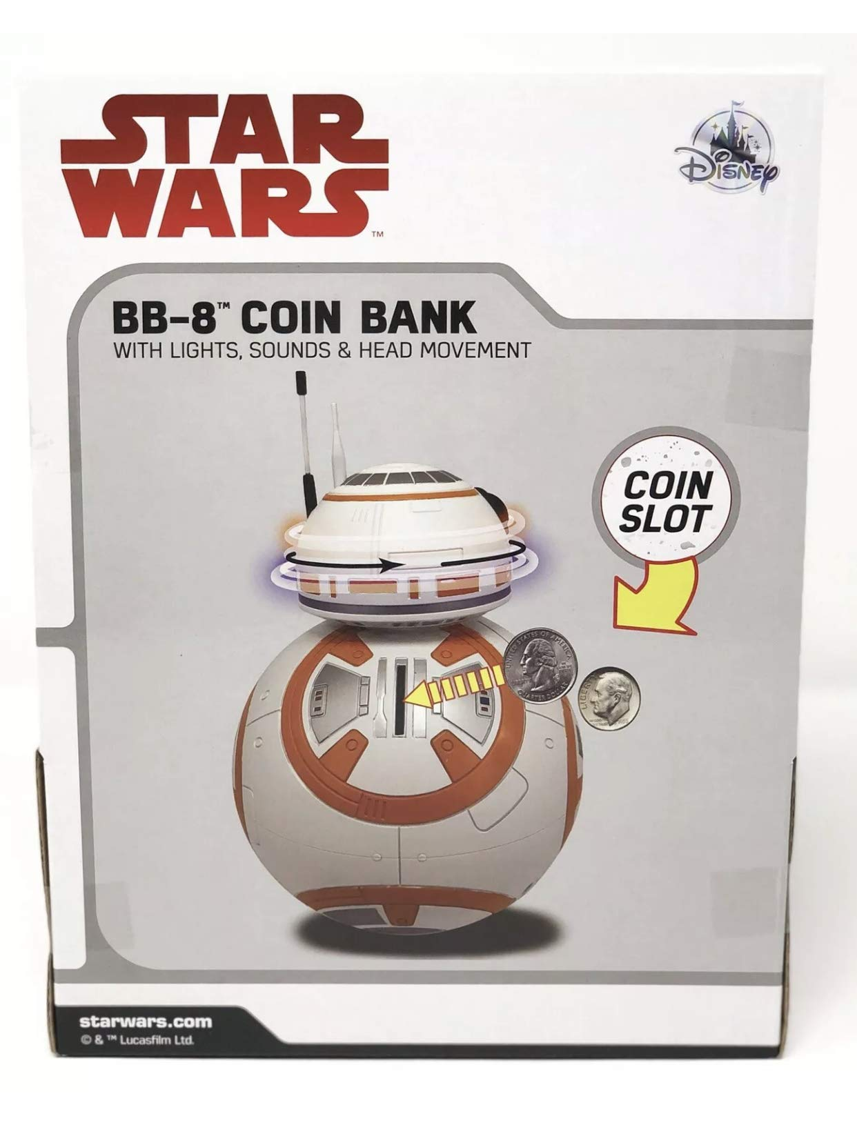 Disney Star Wars The Last Jedi BB-8 Light-Up Coin Bank by Disney (Image #2)
