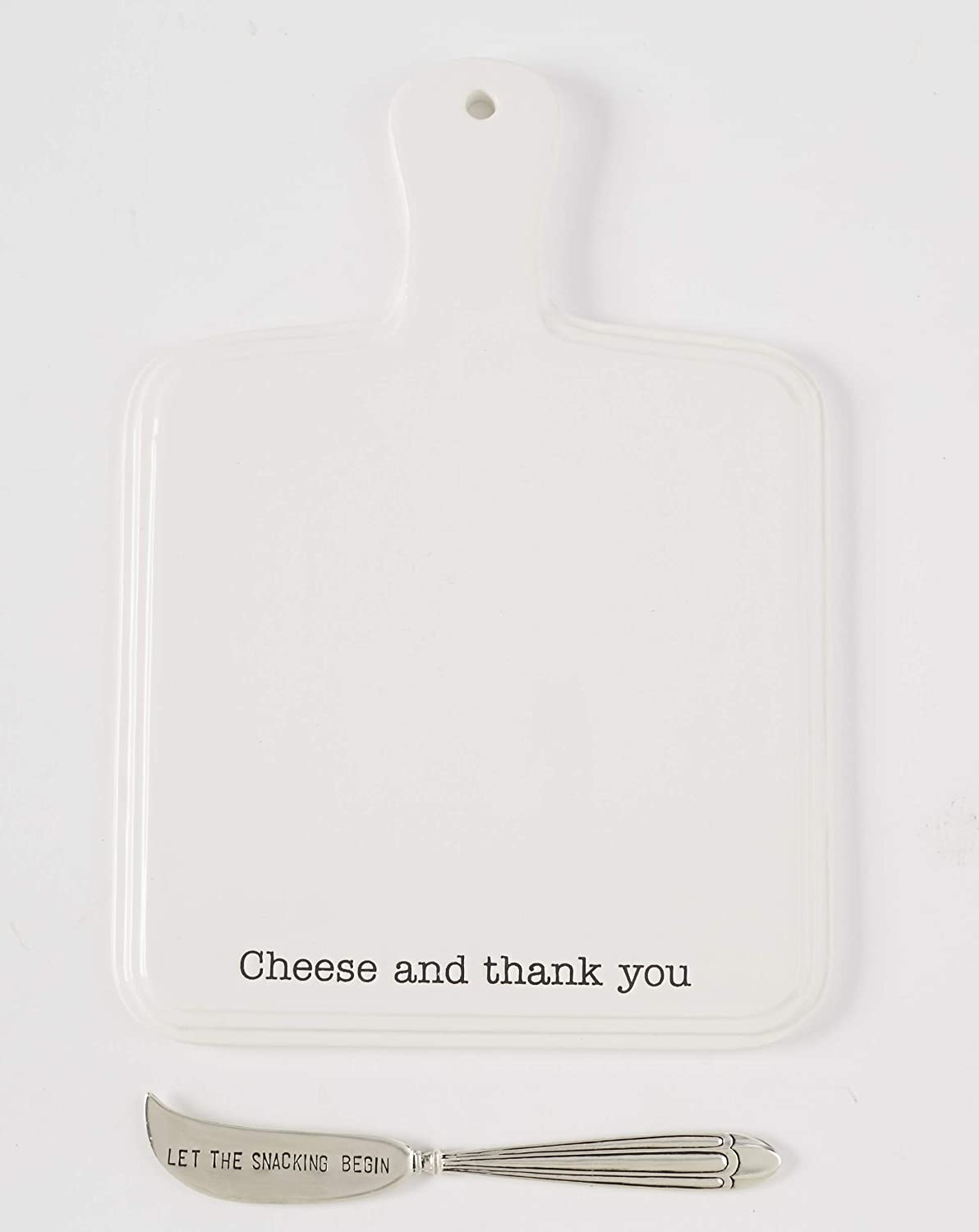 Mud Pie 47500030C Farmhouse Ceramic Set-Cheese and Thank You ...