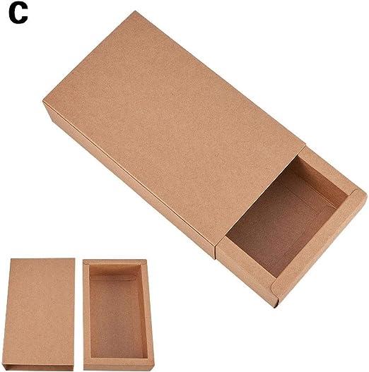 circulor 20 Pcs Cajas De Cartón Kraft para Anillo, Jabones, Joyas ...