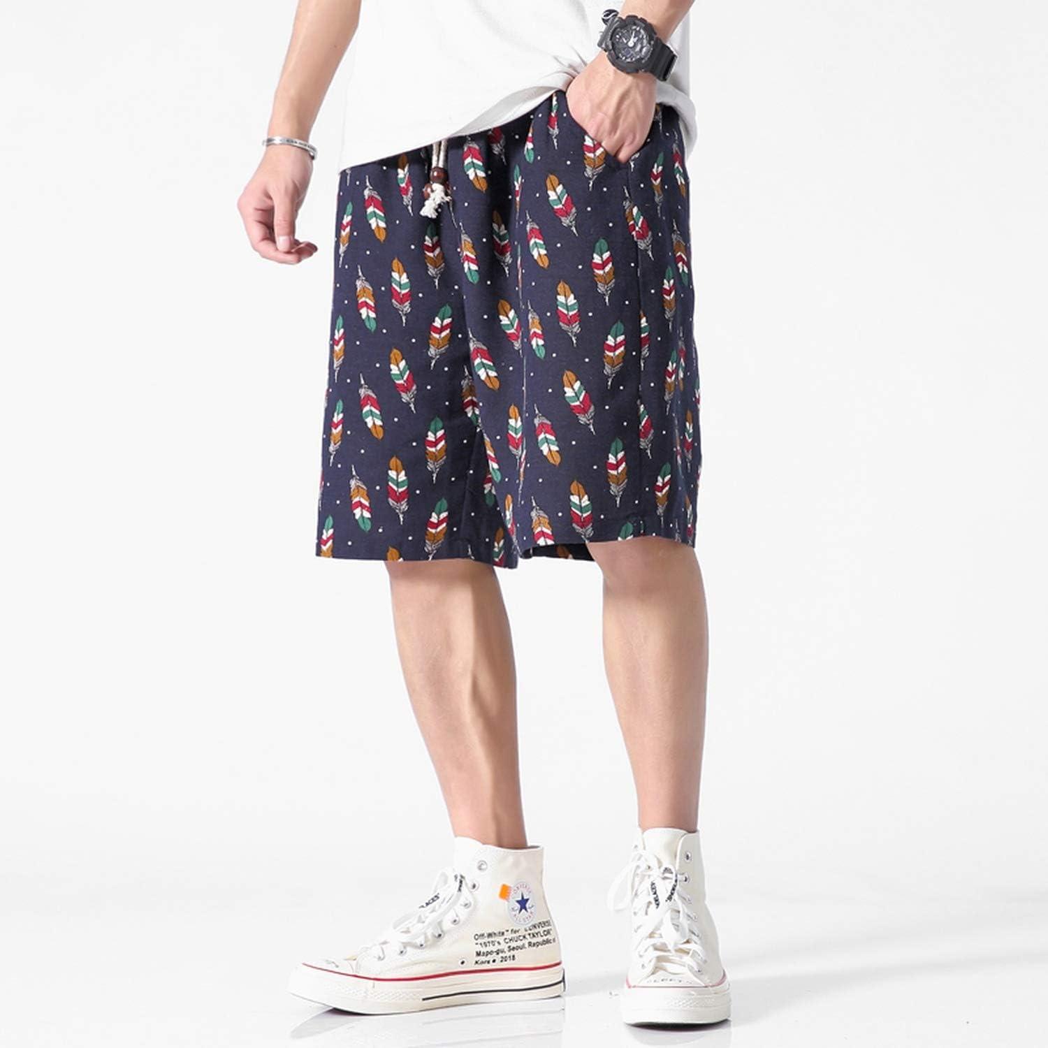 2019 Shorts Men Casual Shorts Men Drawstring Printed Streetwear Mens Shorts,As a 12,L