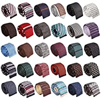 BMC Stylish 3pc Mixed Pattern Mens Fashion Knitted Neck Tie Accessory Set