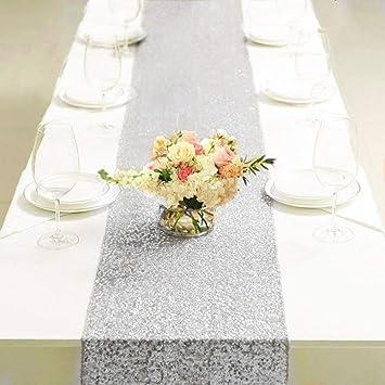 Eiseyen Tischlaufer Glitter Pailletten Tischdecke Fur Hochzeit