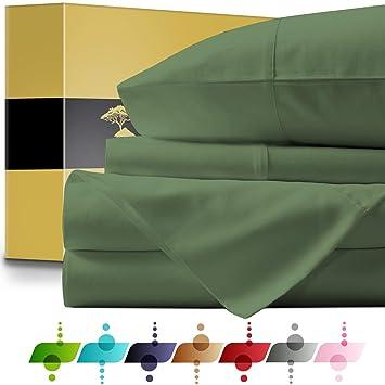 Amazon.com: Urban Hut Juego de sábanas de algodón egipcio (4 ...