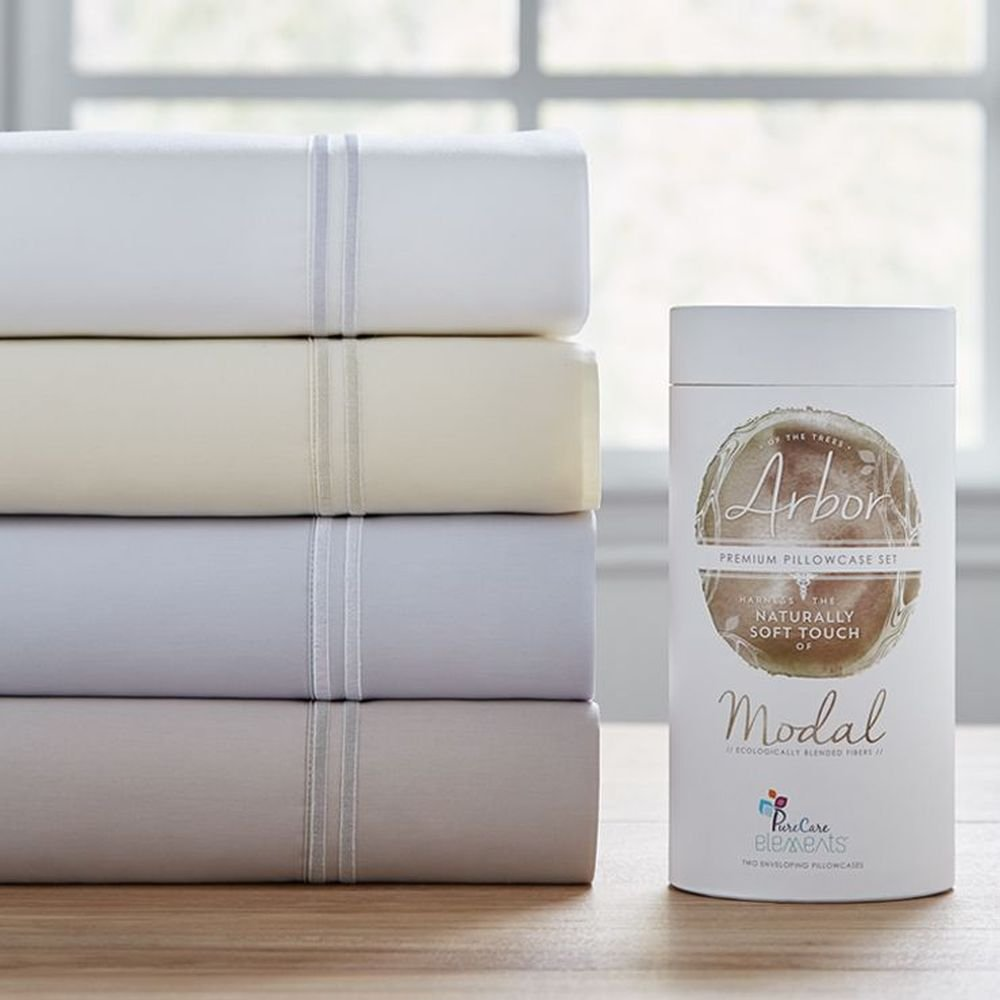 PureCare PCSM-Q-WH Elements Premium Modal Sheet Set, Queen, White
