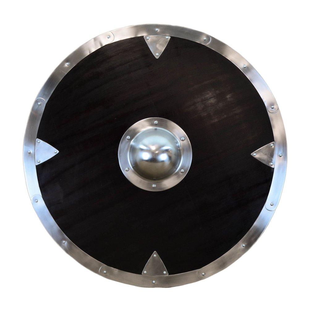 Lord Of Battles Large Viking Shield With Steel Rim and Boss
