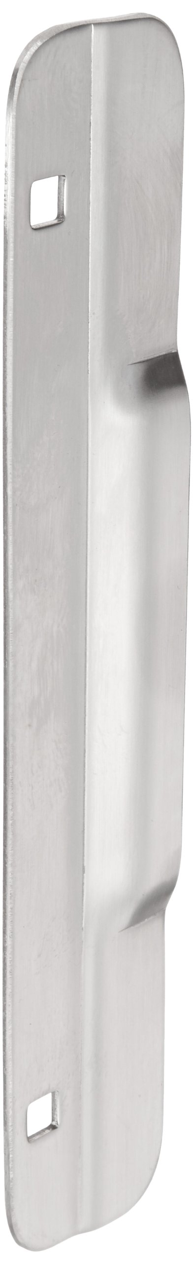 Rockwood 321.32D Stainless Steel Mortise Latch Protector, 1-1/2'' Width x 10'' Height, 0.105'' Thickness, Satin Finish