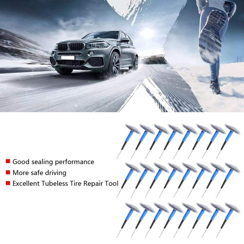 EBTOOLS Toppa per riparazione pneumatici Patch 24 pezzi Universal Car Moto Tubeless Tyre Punk Riparazione Mushroom Plug Patch Gum 60 * 9mm