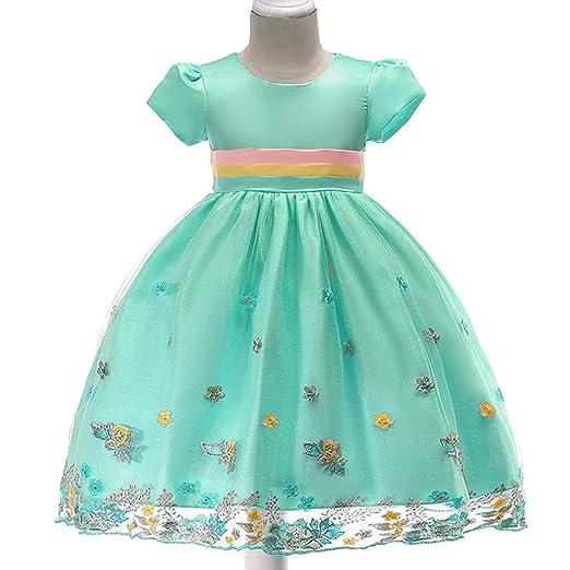 Vestido Fiesta Niña Bordado Falda Princesa Bebé Disfraz de ...