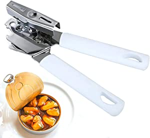 Manual Can Opener, Stainless Steel Sharp Blade Safe Cut Can Openers with Smooth Edge, Easy Turn Big Knob Handheld Can Opener for Bottle, Beer, Ideal for Seniors with Arthritis