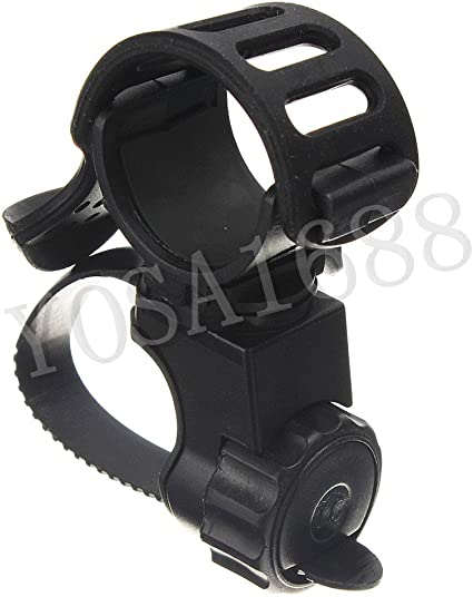 360° Rotation Cycling Bicycle Bike LED Flashlight Front Lamp Mount Holder Clip