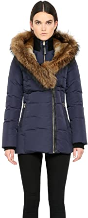Amazon.com: Mackage Akiva-f5 Ink Winter Down Coat with Fur Hood ...