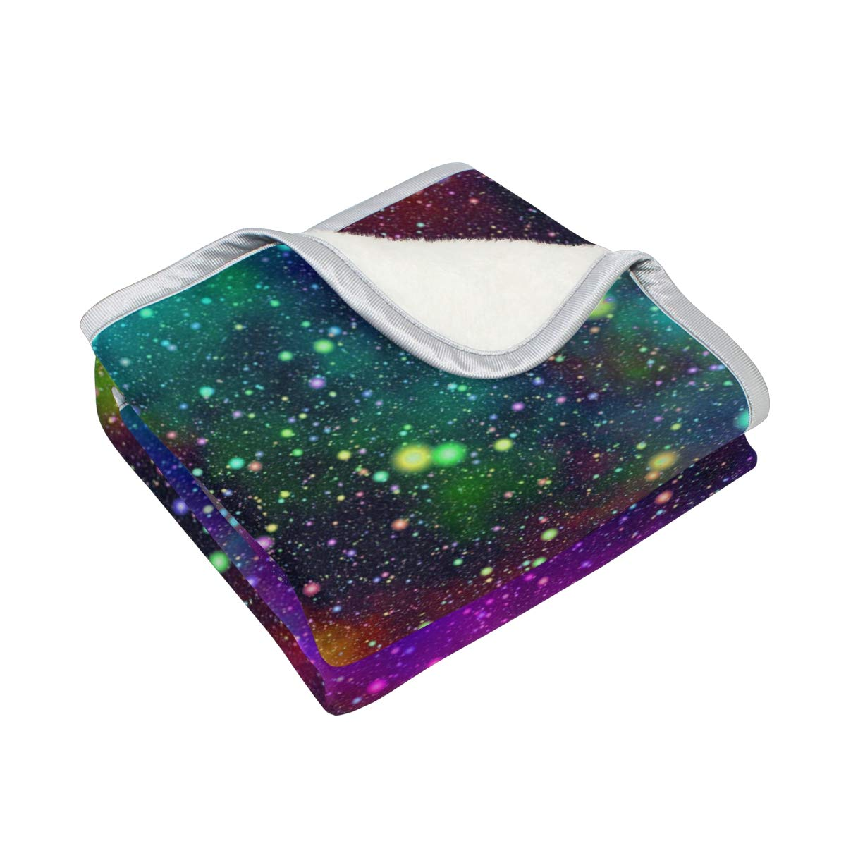 7a5de6496791 Amazon.com: XLING Home Throw Blanket Colorful Space Universe Galaxy ...