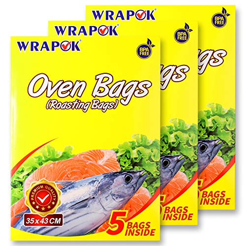 WRAPOK Oven Cooking Turkey Bags Medium Size Ribs