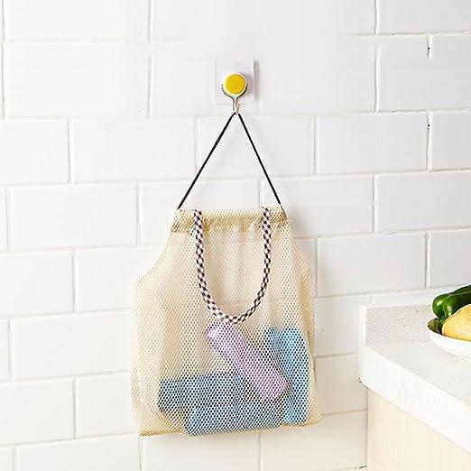 Bolsas de malla reutilizables para alimentos, de algodón orgánico, bolsa de malla de almacenamiento de frutas