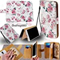 PU Leather Purse/Clutch/Pouch/Wallet Fits Apple Samsung LG Motorola Nokia ZTE etc. Universal Women's Cute Wristlet Strap Flip Case Pink Rose/Floral Vintage - Small. Fits the Models below: by Mybat