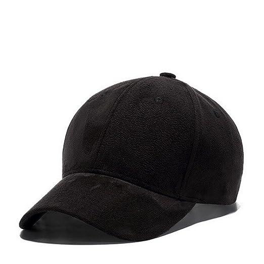 1116a460bbd Winter Autumn Thickening Suede Fabric Men Women Baseball Caps High Grade  Cotton Hip Hop Cap Hats