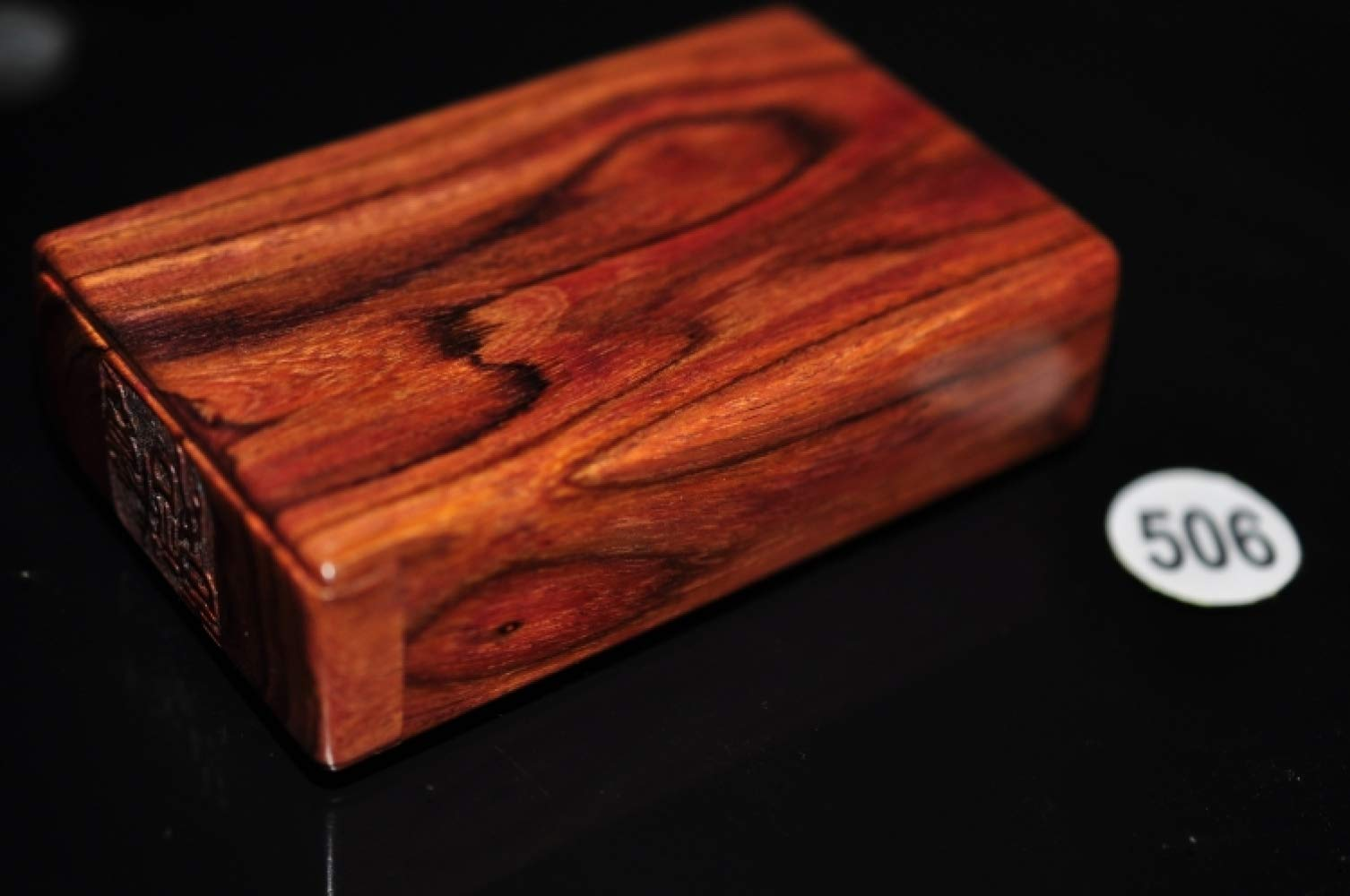 CTO Cigarette Box, Huanghuali, Hollowed Out, Curved Clamshell, Engraving, Retro, Suitable for Collection, Gift, Capacity 20,B,Box