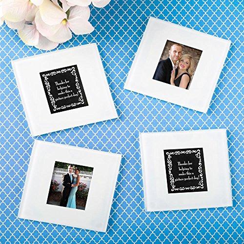 144 Plain Glass Photo Coasters by Fashioncraft