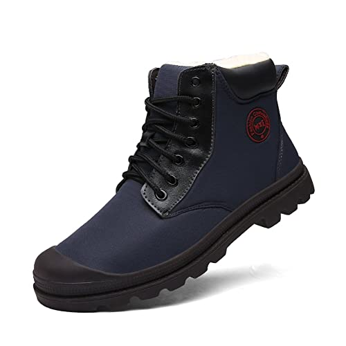 Botas de Nieve para Hombres Repelente al Agua Caliente con la Piel Cómoda  Zapatos Ligeros de Invierno con Aislamiento Botines al Aire Libre   Amazon.es  ... ad46f893e9c7a