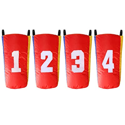 "Coolrunner 4 Pack Sack Race Bags 26.4"" Hx12.6"" W, Sack Race Bag Set for Kids with Figure Marked, Great for Outdoor Party Activities, Picnics, Birthday Parties, Family Reunions"
