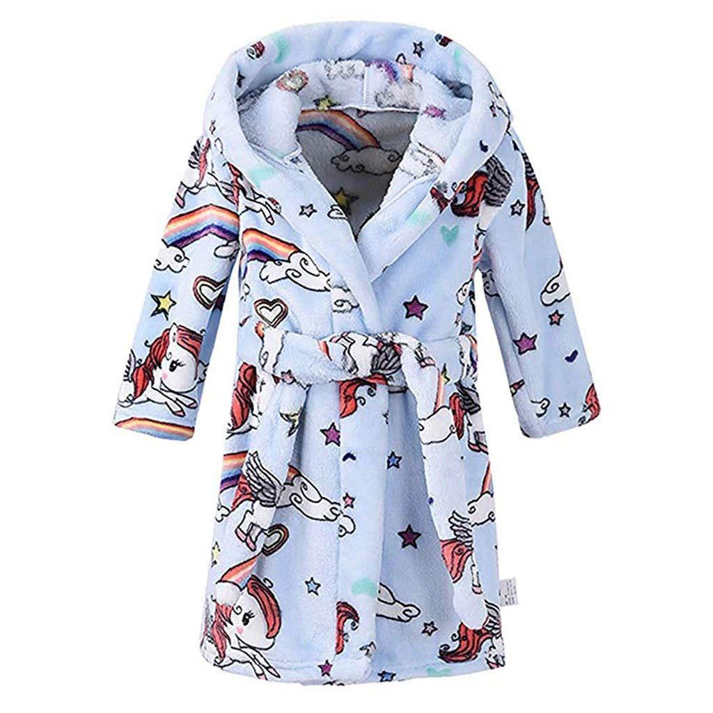 Amazon.com  Teen Kids Toddler Baby Girls Boys Night-Gown Pajamas Cartoon  Rainbow Horse Both Cloak Soft Hydrophil Bathrobe  Clothing 5e3fd6684
