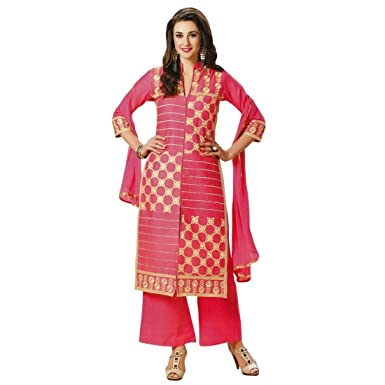 ae8b942fb2 Amazon.com: Ready to Wear Elegant Cotton Embroidered Salwar Kameez Suit  Indian: Clothing