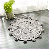 Gray Color Handmade Nordic Carpets Carpet Kids' Room Game Pad Coffee Table Area Rug Children Play Floor Mat Cute