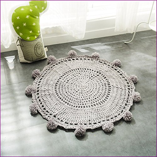 Gray Color Handmade Nordic Carpets Carpet Kids' Room Game Pad Coffee Table Area Rug Children Play Floor Mat Cute by Floor Games