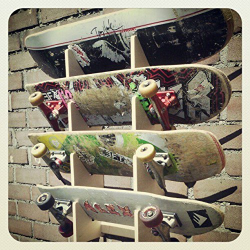 Porta Skateboard Da Muro.Boardracks Wall Rack For 4 Skateboards Display Rack