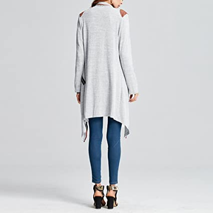 Womens Knitted Cardigan,Autumn Winter Casual Clothing Long Sleeve Tops Jacket Outwear Plus Size