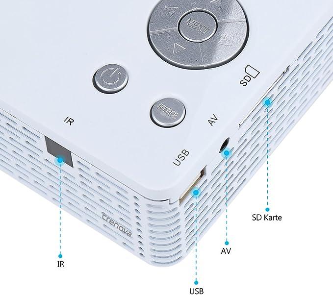 Beamer mini proyector Crenova XPE300 BL-18 con protección para los ...