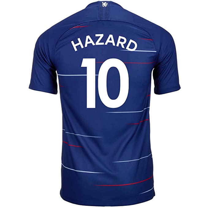 new products 6d121 28b5a Amazon.com: Nike Hazard #10 Chelsea Home Soccer Youth Jersey ...