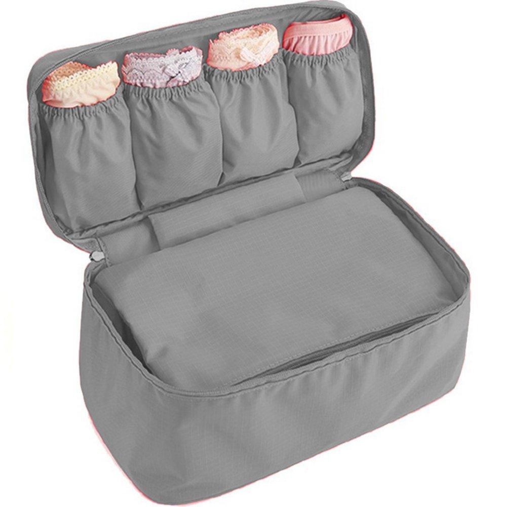 WOSON Étui de voyage portable Sous-vêtements Boîtes de rangement Organisateur Sac pour lingerie Soutien gorge Protège Lingerie Soutien-gorge Cas Voyage (Blue)