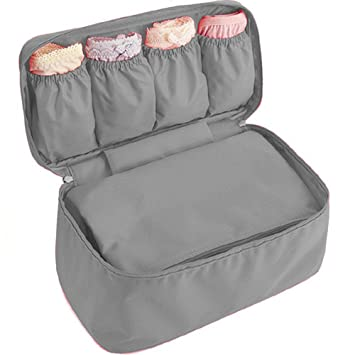 woson multifunción plegable sujetador ropa interior Bra Bolsa Bolsa de almacenamiento impermeable Calcetines Bolsa Bolsa de viaje bolsa gris: Amazon.es: ...
