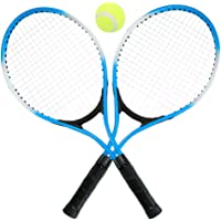 Decdeal 2Pcs Kids Tennis Racket String Tennis Racquets with 1 Tennis Ball and Cover Bag