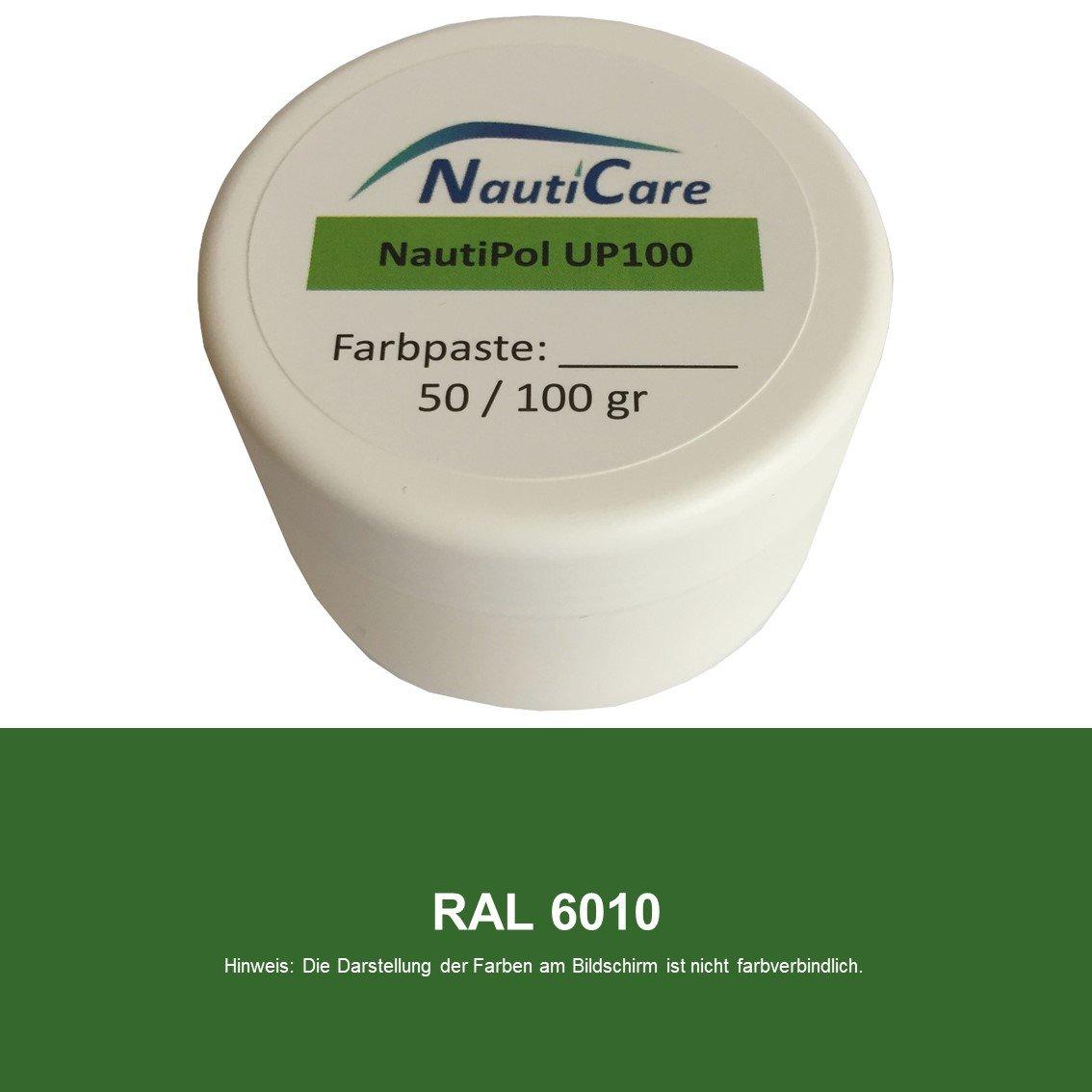 NautiCare NautiPol up 100 Farbpaste 100 g - 35 RAL Farben zur Auswahl - Zum Einfä rben von Polyesterharz