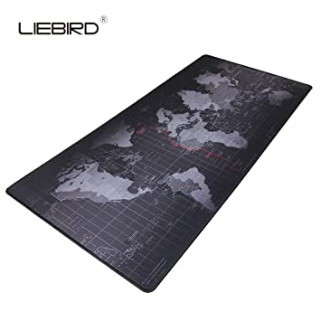 World map extended xxl gaming mouse pad portable amazon world map extended xxl gaming mouse pad portable large desk mat non slip gumiabroncs Image collections