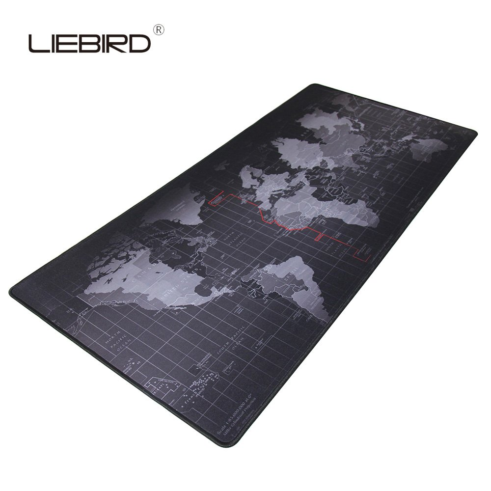LIEBIRD Extended Xxl Gaming Mouse Pad - Portable Large Desk Pad for Laptop - Non-slip Rubber Base (XXL- 35.4''x15.7''x2.5mm)