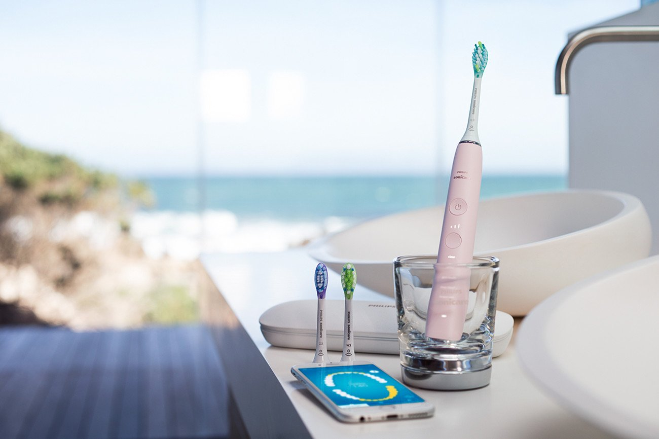 Philips Sonicare DiamondClean Smart Electric, Rechargeable toothbrush for Complete Oral Care – 9300 Series, Pink, HX9903/21 by Philips Sonicare (Image #8)