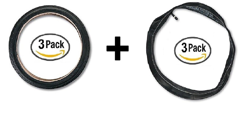 16'' Tires PLUS Inner Tubes for BOB Ironman Front & Rear Wheels (Set of 6)