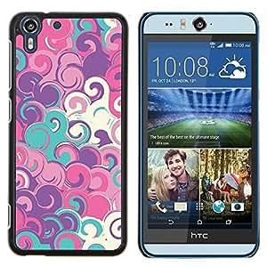 Eason Shop / Premium SLIM PC / Aliminium Casa Carcasa Funda Case Bandera Cover - Arte azul del trullo Pintura Modelo blanco - For HTC Desire Eye ( M910x )