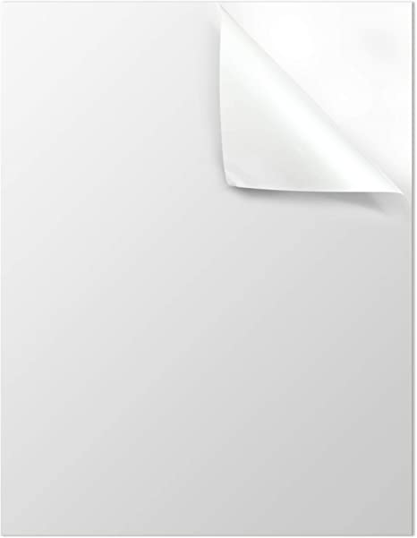 Amazon.com: Mr-Label - Papel adhesivo de vinilo blanco mate ...