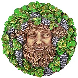 Bacchus Plaque- Color - Artist Oberon Zell