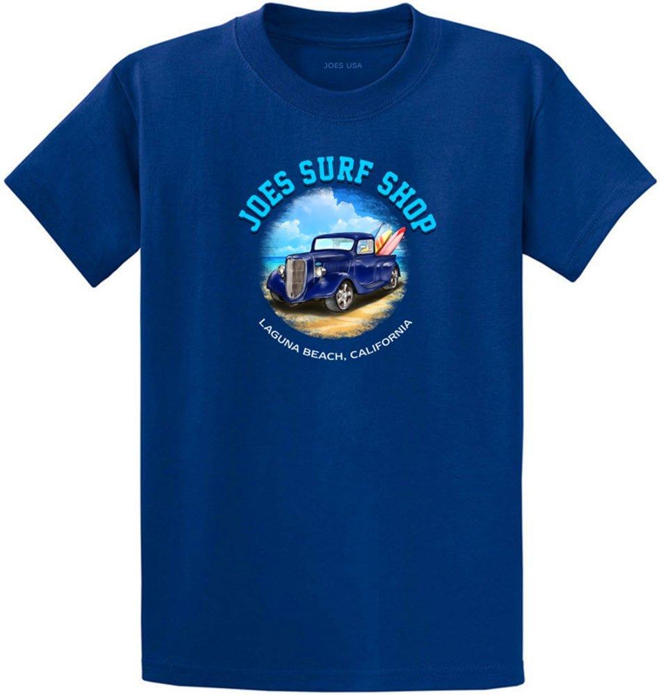 Joe 's Surf ShopグラフィックのヘビーウェイトコットンTシャツレギュラー、Big and Tall B072LBBNKH Tall 2X-Large 2XLT (47-49)|Royal With Joe's Surf Truck Logo Royal With Joe's Surf Truck Logo Tall 2X-Large 2XLT (47-49)