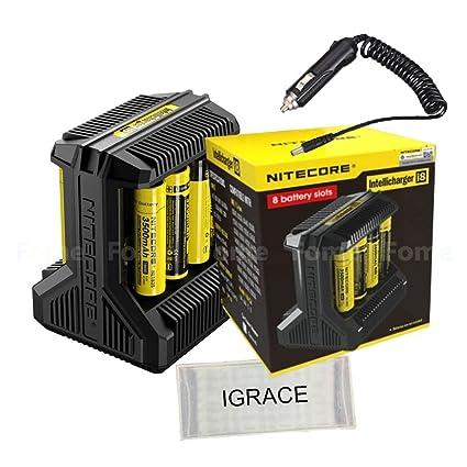Smart Battery Charger, iGrace Nitecore i8 Intelligent Multi-slot Charger